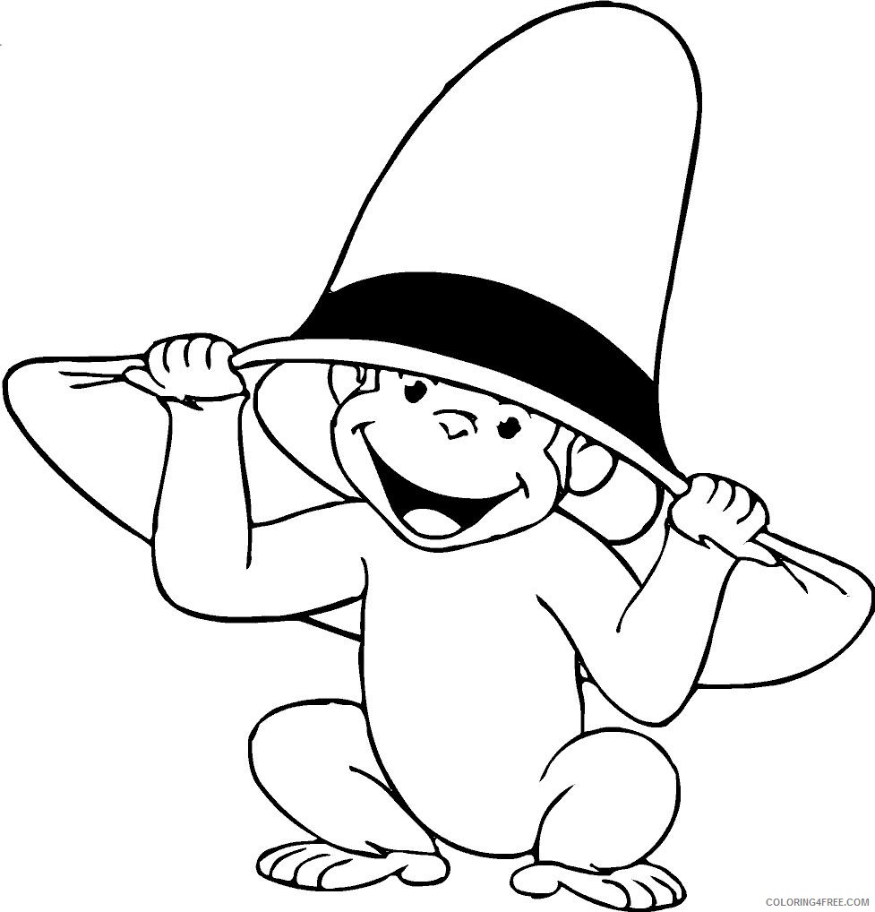 george the monkey coloring pages Coloring4free