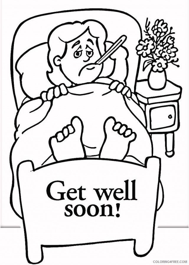 get well soon boy coloring pages Coloring4free
