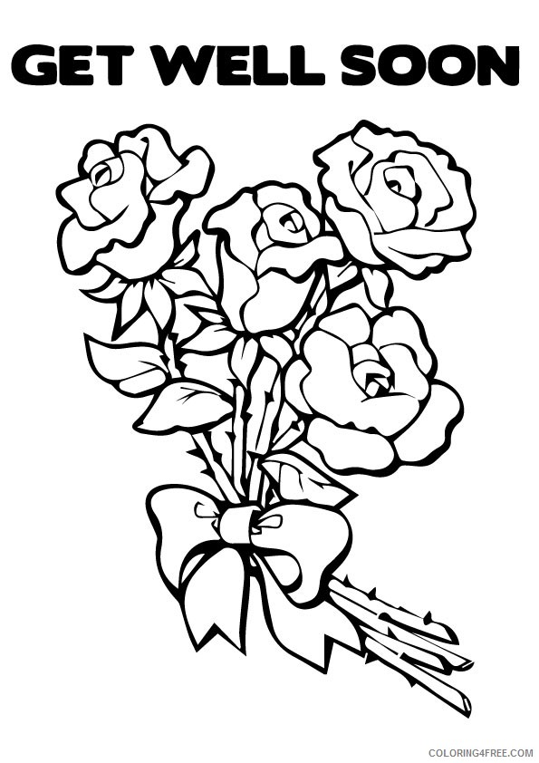 get well soon coloring pages flowers Coloring4free