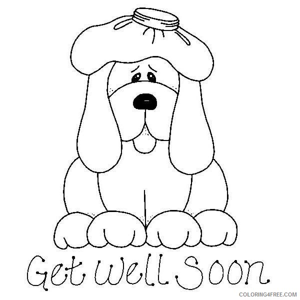 get well soon coloring pages puppy Coloring4free