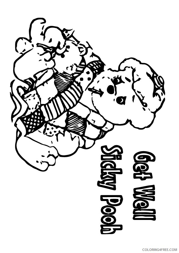 get well soon coloring pages teddy bear Coloring4free