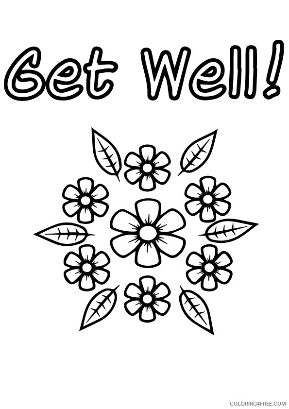 get well soon coloring pages with flowers Coloring4free