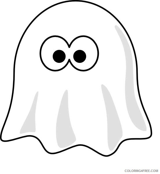 ghost coloring pages for preschool Coloring4free