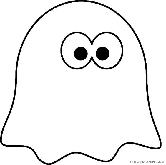 ghost coloring pages for toddler Coloring4free