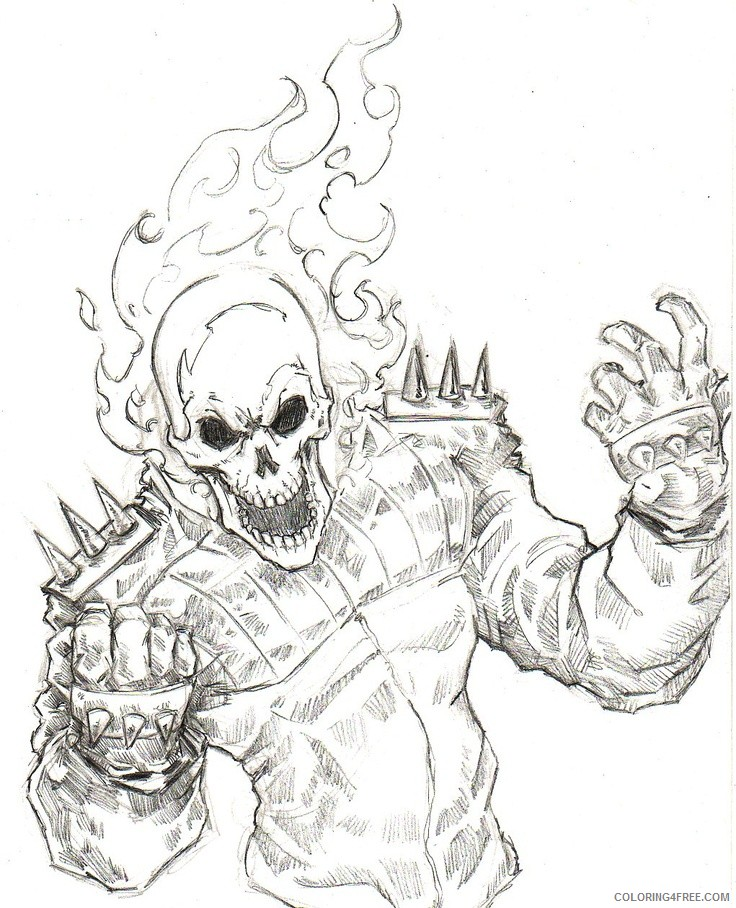 ghost coloring pages ghost rider Coloring4free