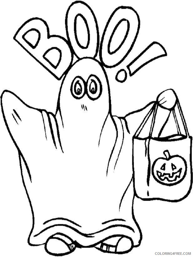 ghost coloring pages halloween Coloring4free