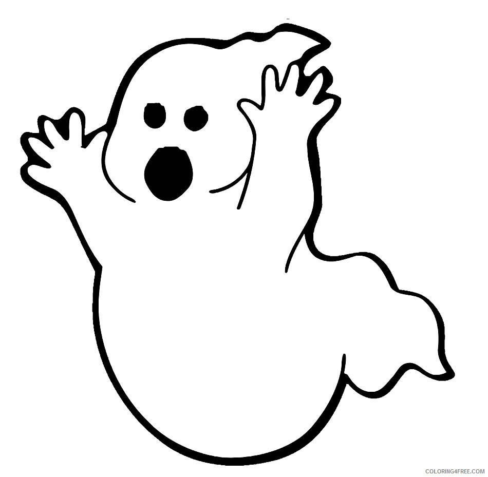 ghost coloring pages printable Coloring4free