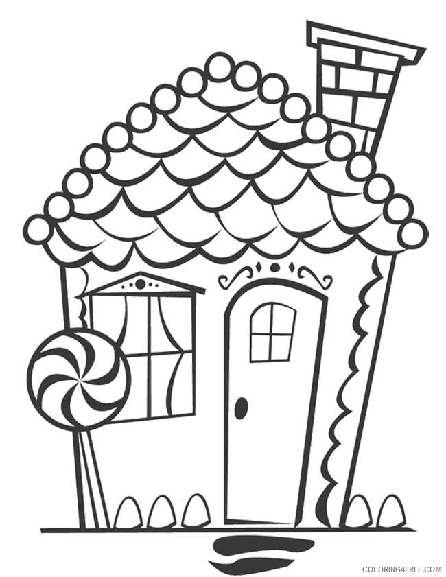 gingerbread house coloring pages to print Coloring4free