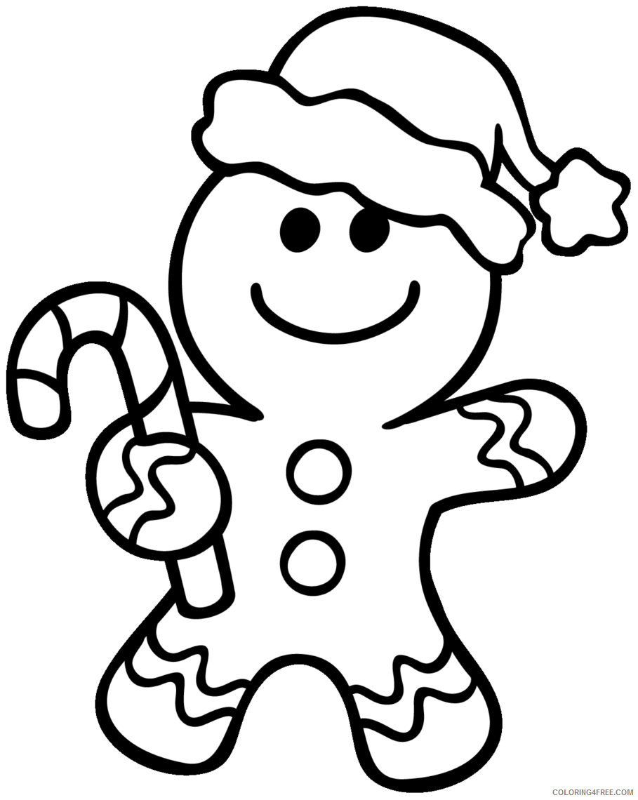 gingerbread man coloring pages christmas Coloring4free
