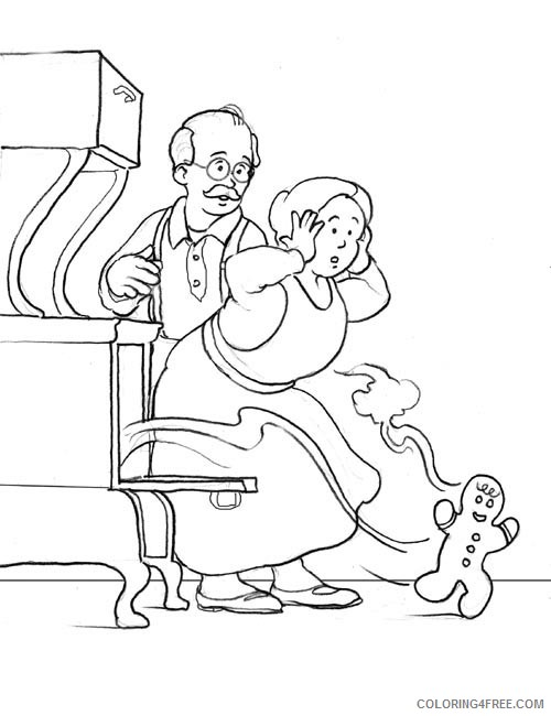 gingerbread man coloring pages escape from oven Coloring4free