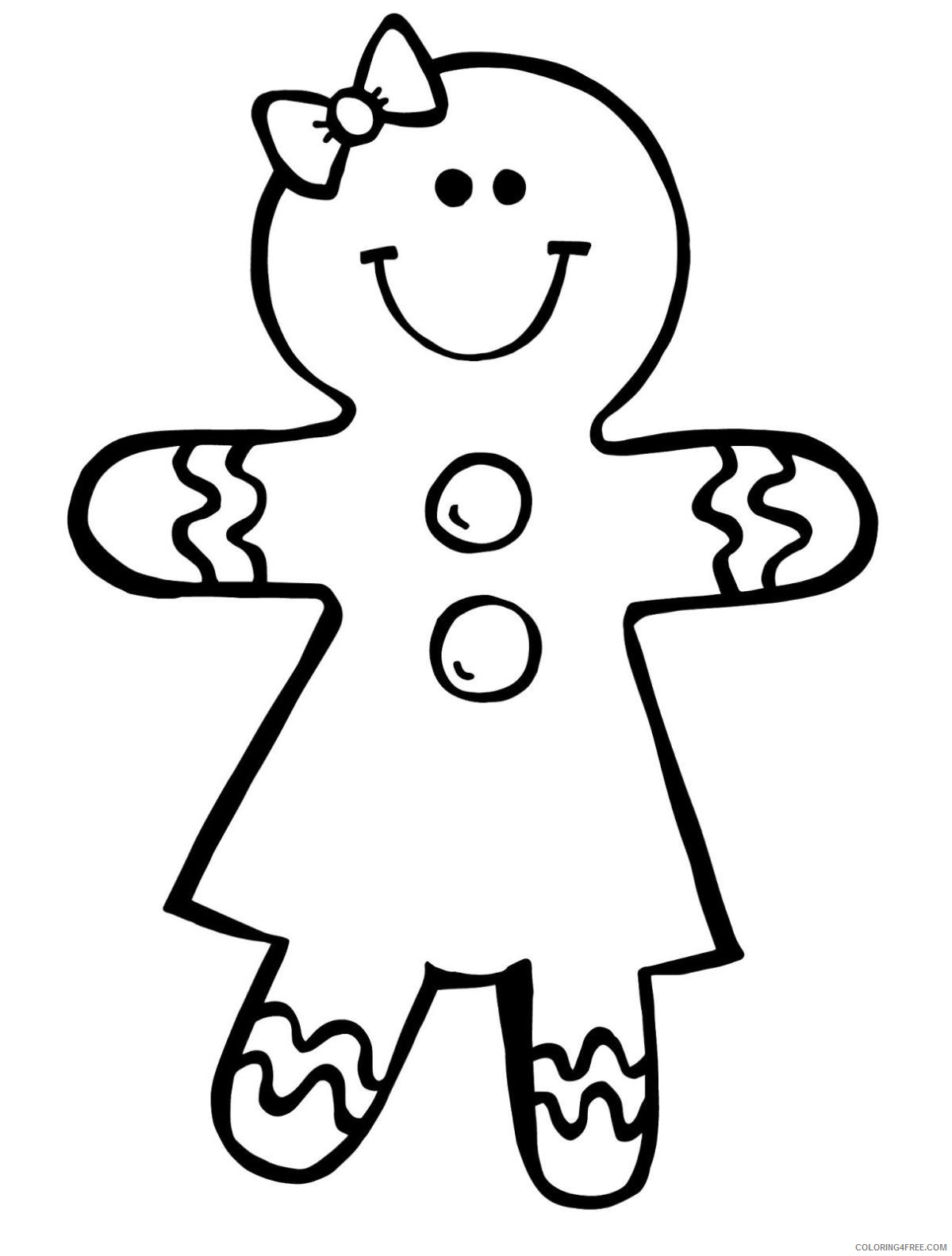gingerbread man coloring pages for girls Coloring4free