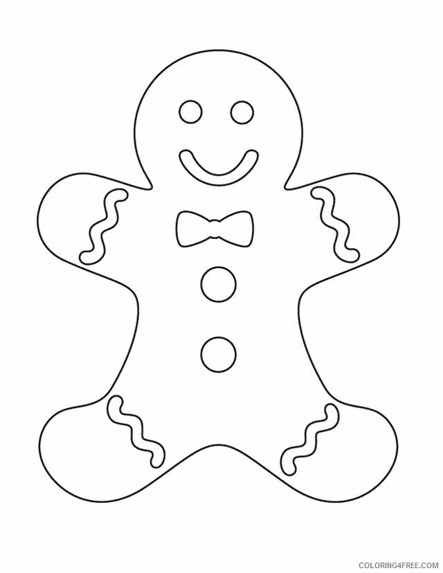 gingerbread man coloring pages for kids Coloring4free