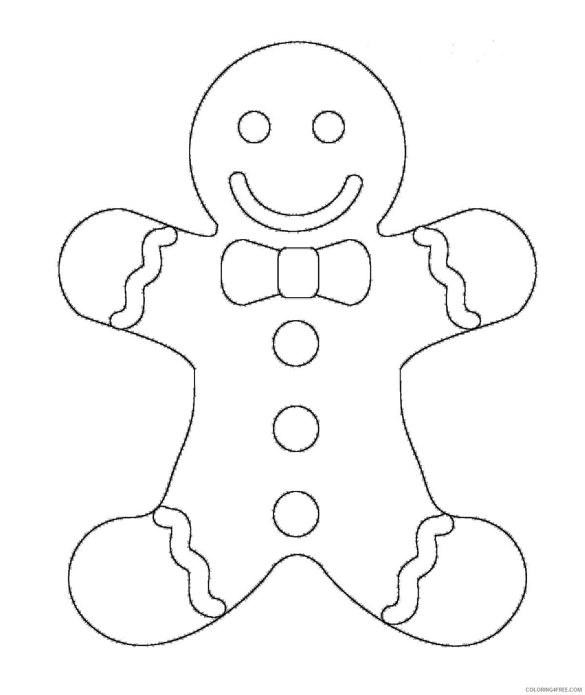 gingerbread man coloring pages for toddler Coloring4free