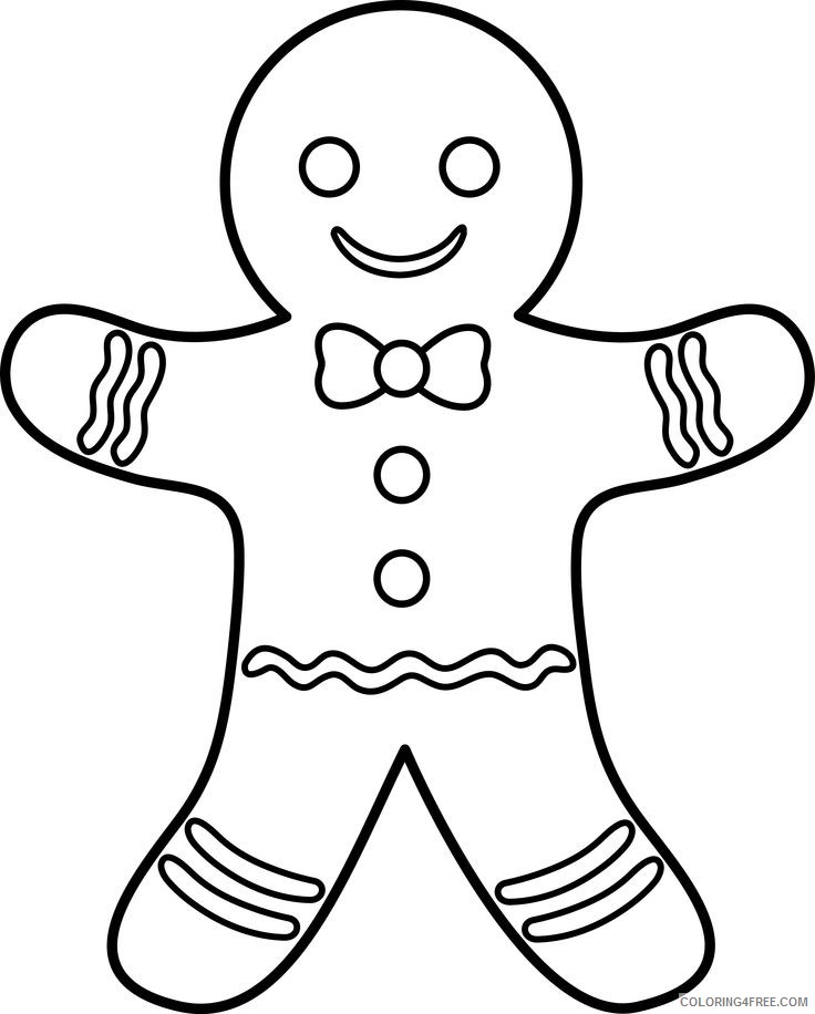 gingerbread man coloring pages printable Coloring4free