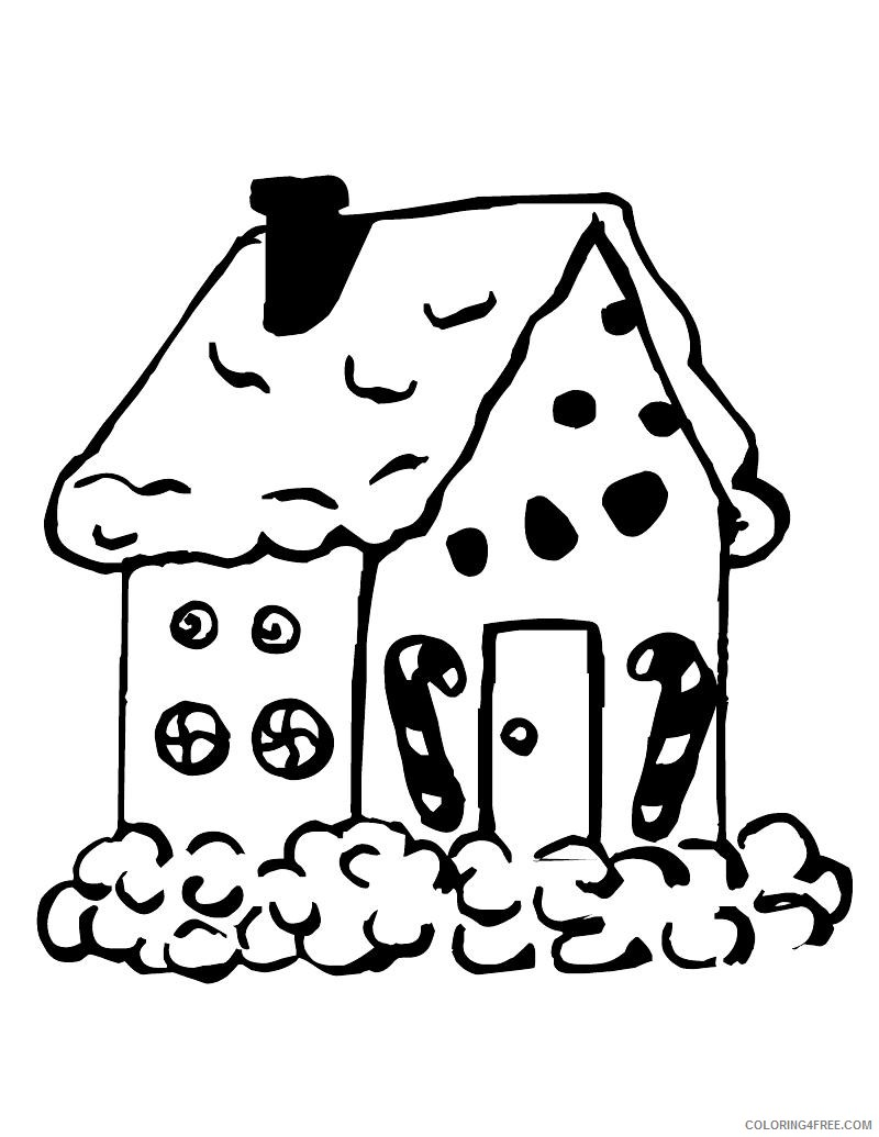 gingerbread man house coloring pages Coloring4free