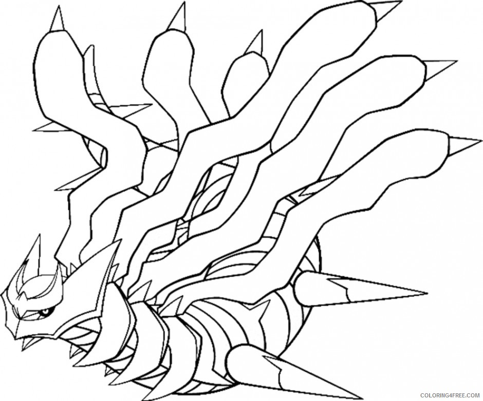 giratina legendary pokemon coloring pages Coloring4free