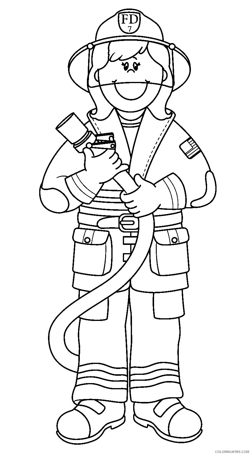 girl firefighter coloring pages Coloring4free