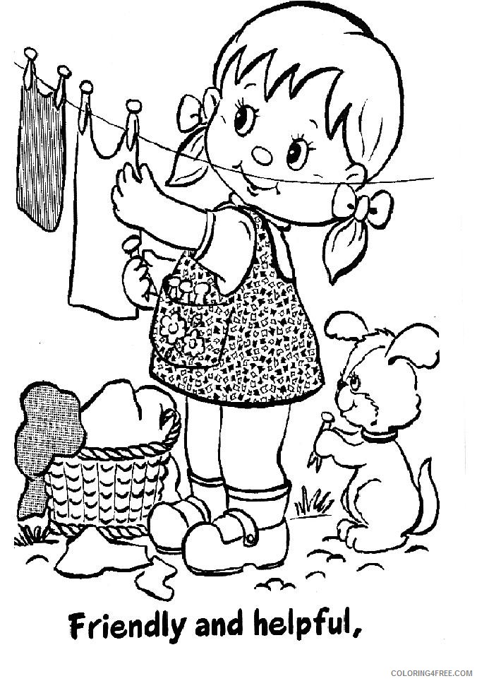 girl scout coloring pages friendly and helpful Coloring4free