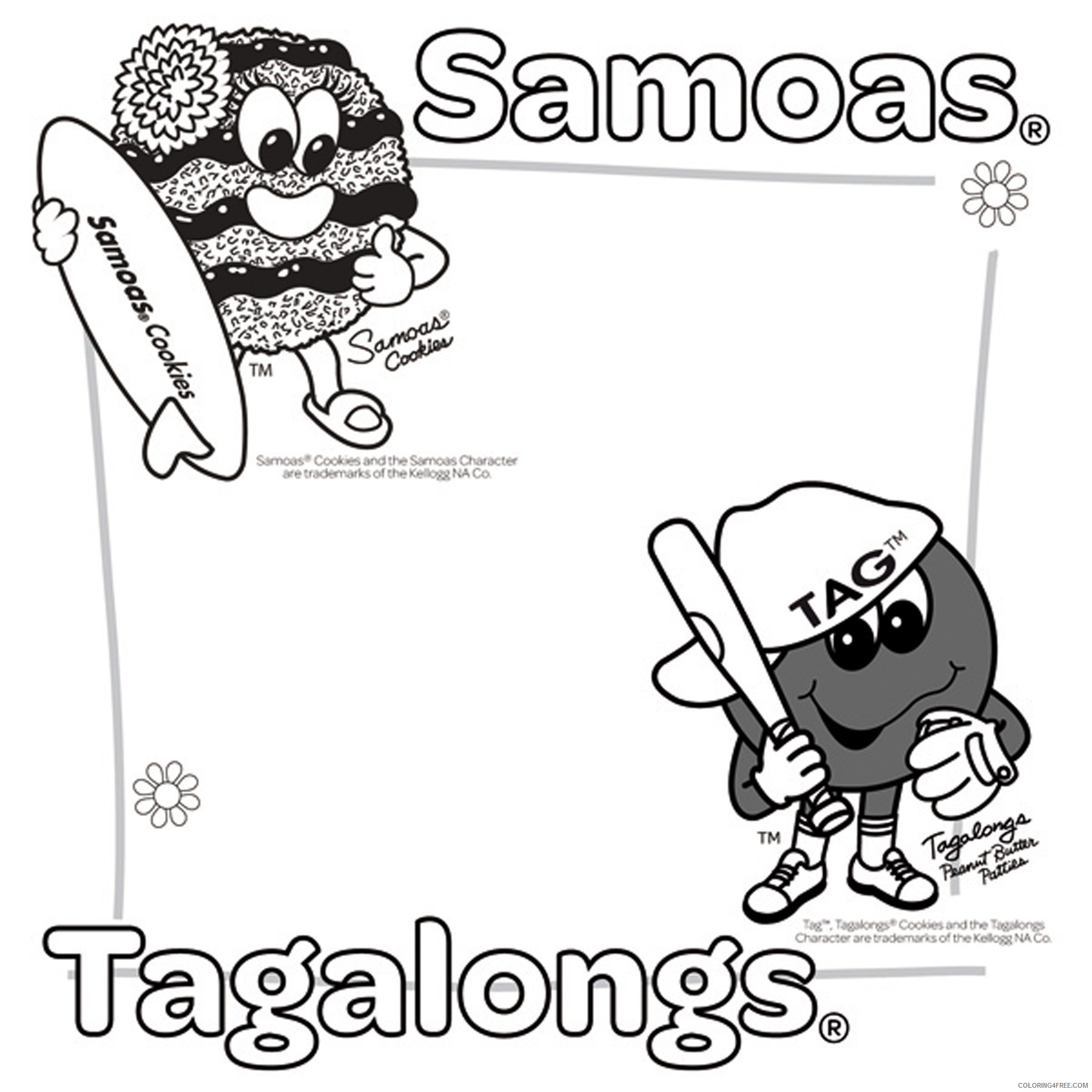 girl scout coloring pages samoas and tagalongs Coloring4free