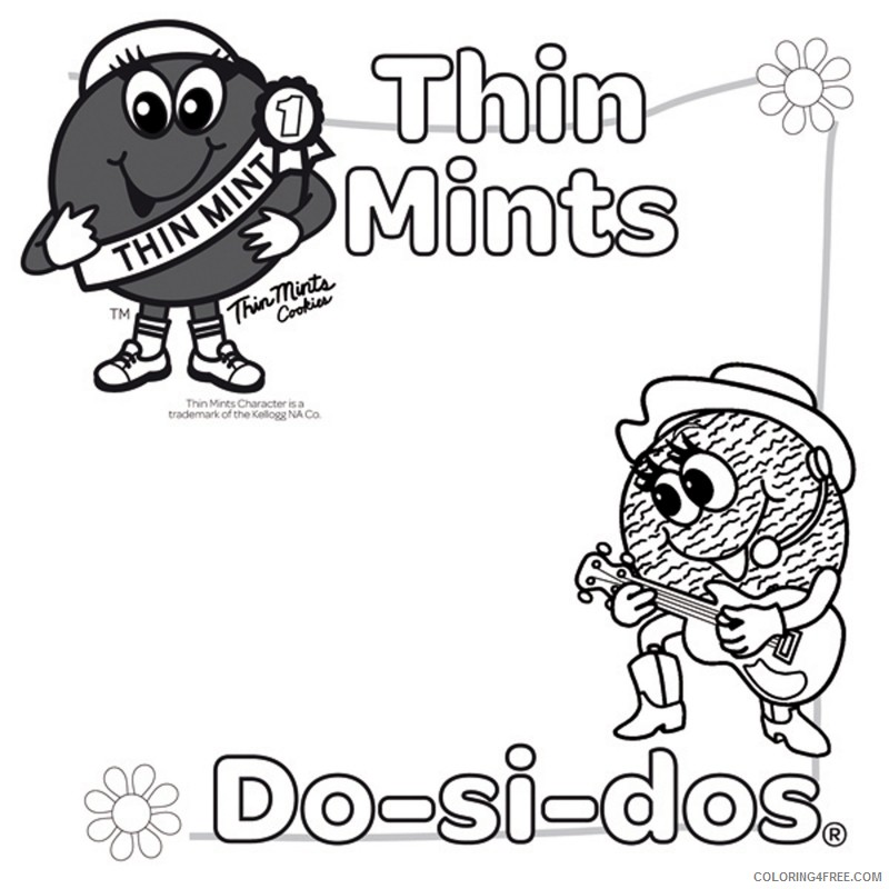 girl scout coloring pages thin mints and do si dos Coloring4free