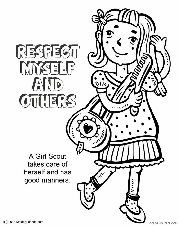 girl scout coloring pages with quotes Coloring4free