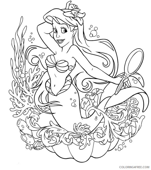girls coloring pages little mermaid Coloring4free