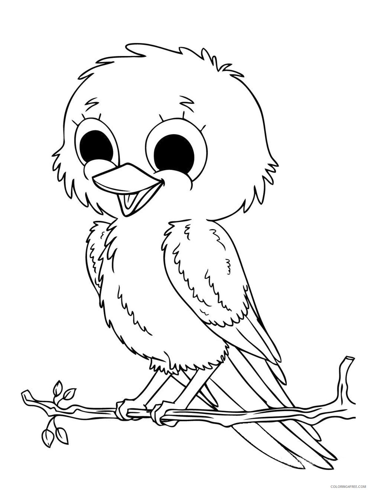 girls coloring pages of bird Coloring4free