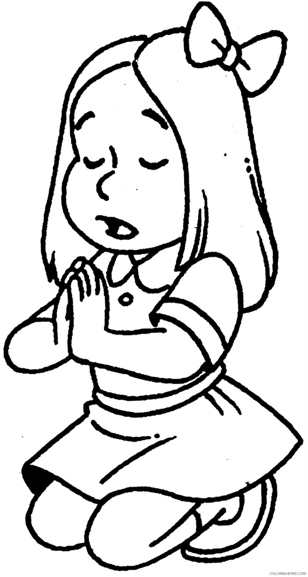 girls coloring pages praying Coloring4free