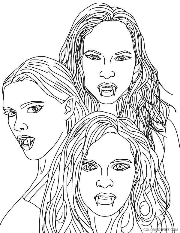 girls vampire coloring pages Coloring4free