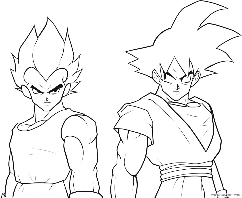 goku coloring pages and vegeta Coloring4free