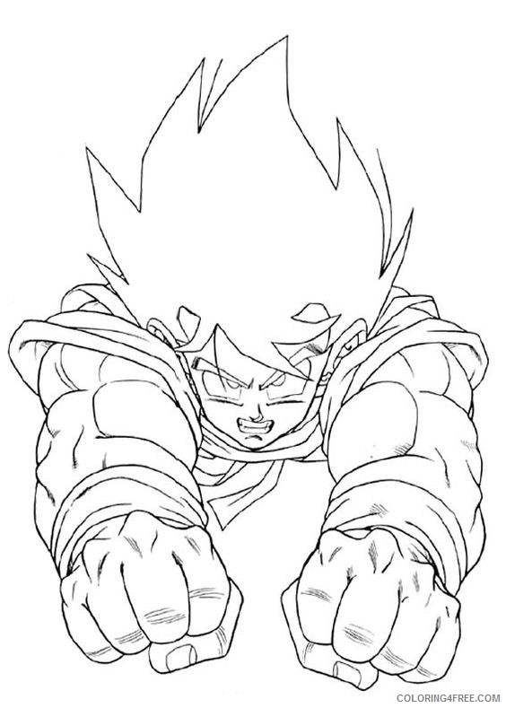 goku coloring pages flying Coloring4free