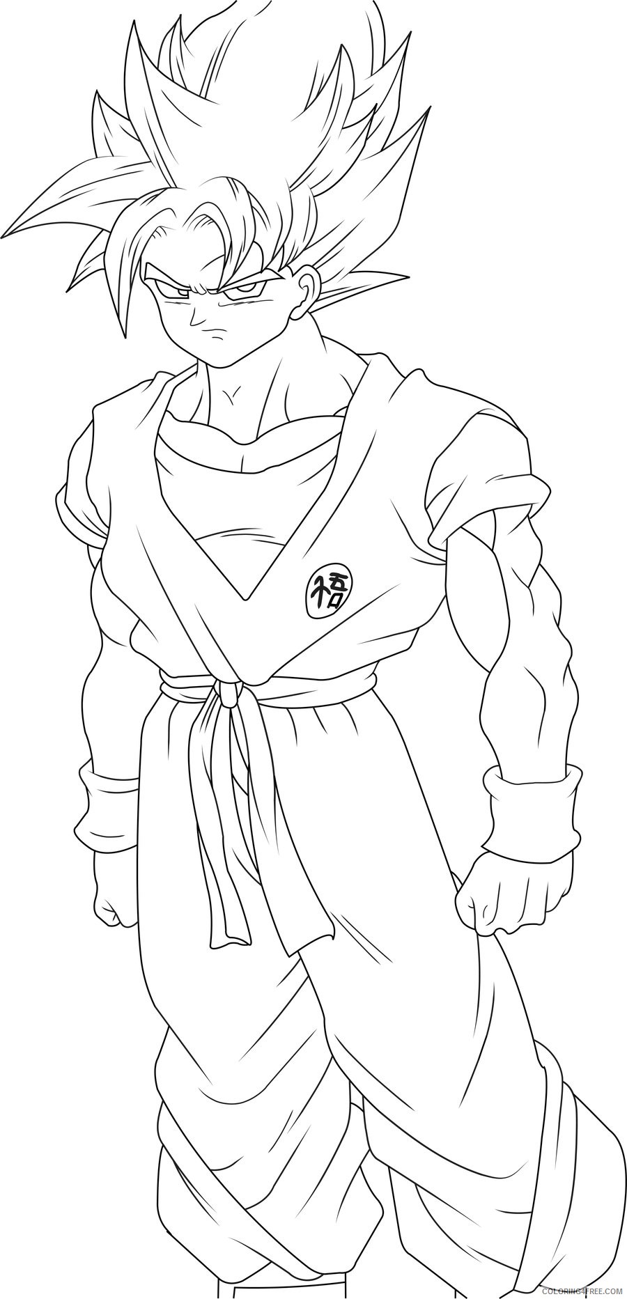 goku coloring pages free to print Coloring4free
