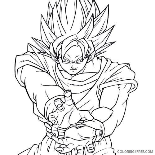 goku coloring pages kamehameha pose Coloring4free