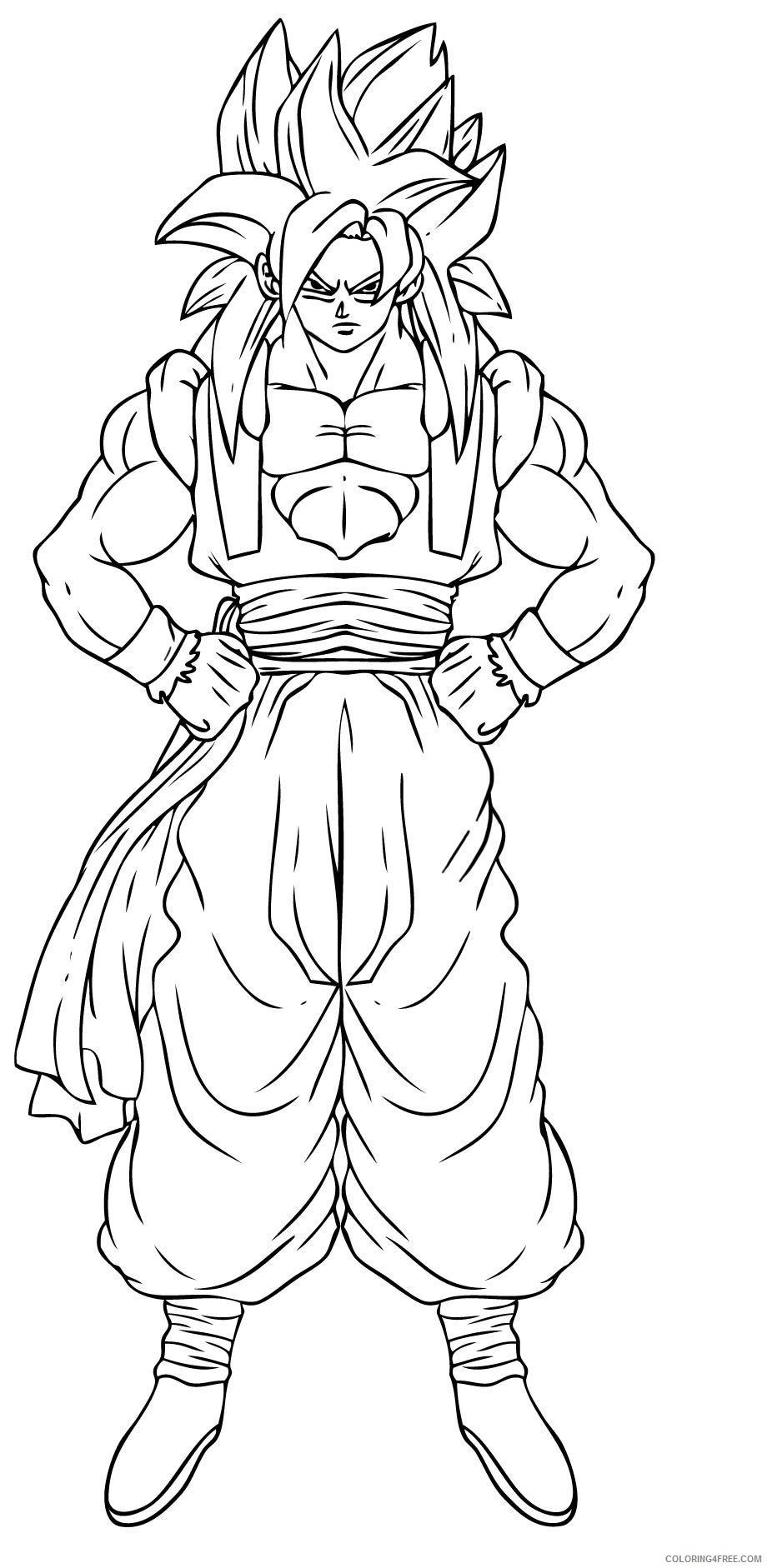 goku coloring pages super saiyan 4 fusion Coloring4free