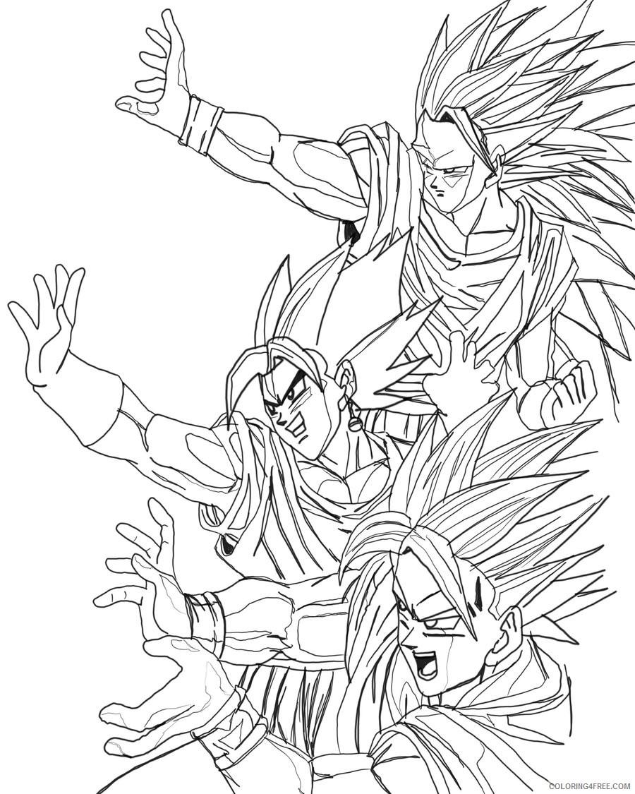 goku coloring pages super saiyan forms Coloring4free