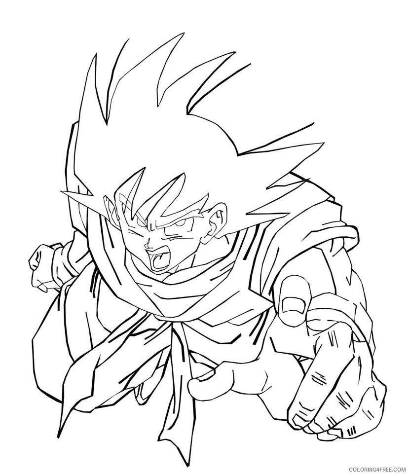 goku coloring pages super saiyan god Coloring4free