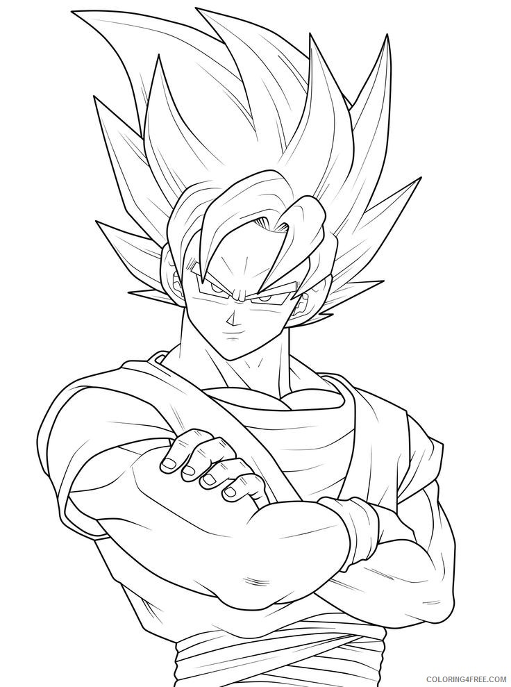 goku coloring pages to print Coloring4free