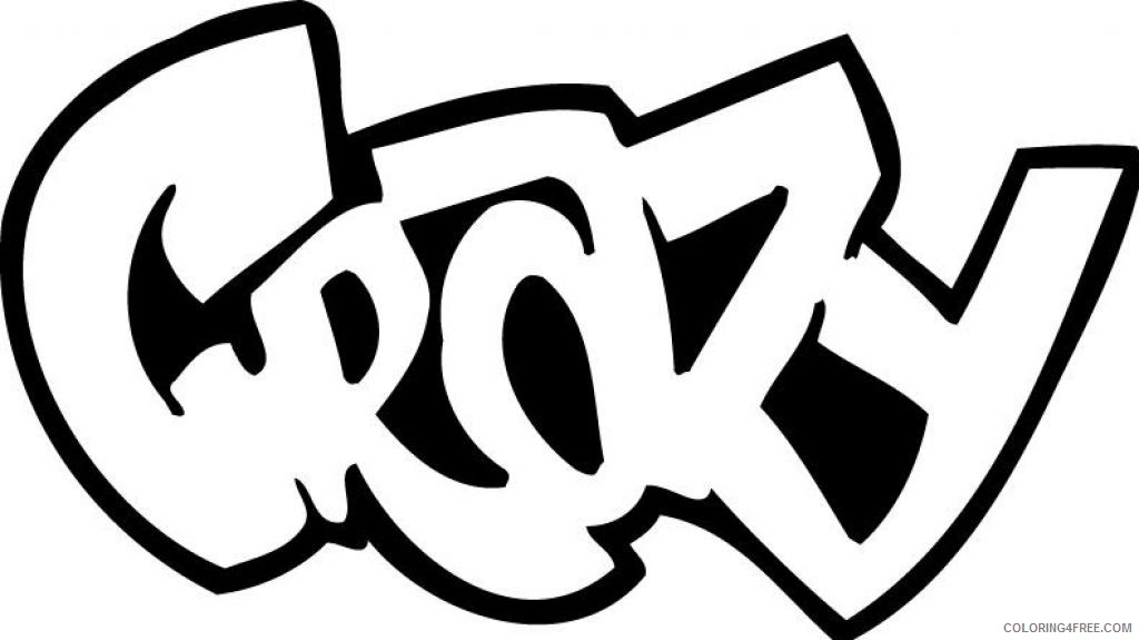 graffiti coloring pages for kids Coloring4free