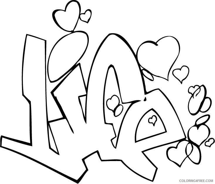 graffiti coloring pages life Coloring4free