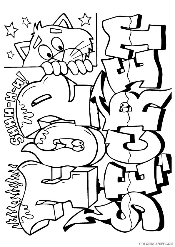 graffiti coloring pages top secret Coloring4free