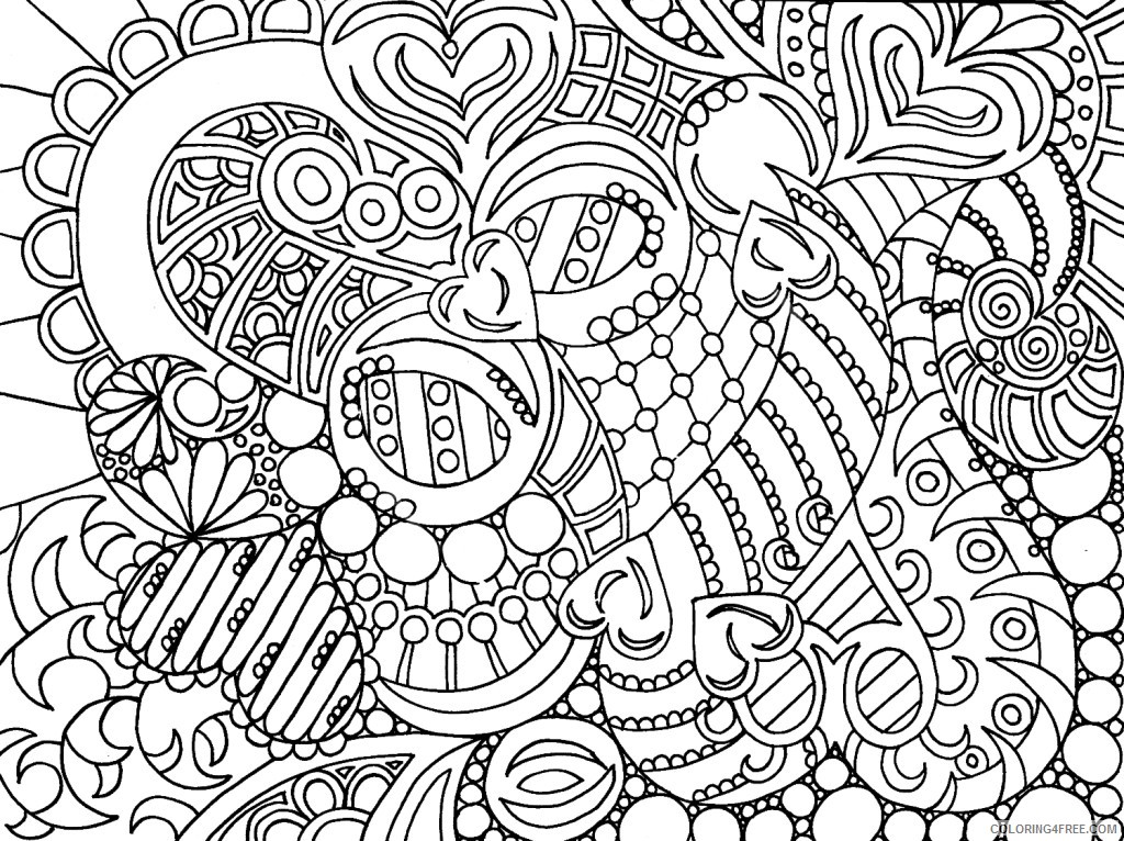 grown up coloring pages abstract Coloring4free
