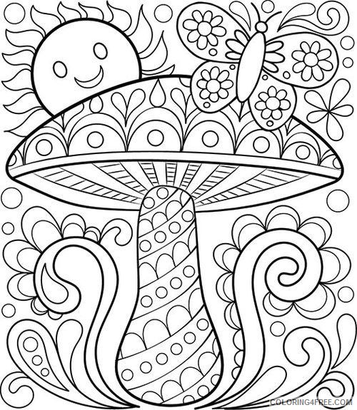 grown up coloring pages abstract nature Coloring4free
