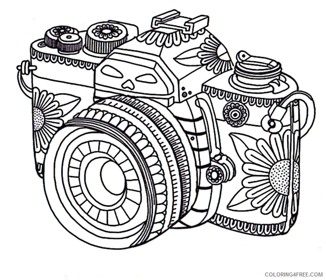 grown up coloring pages camera Coloring4free