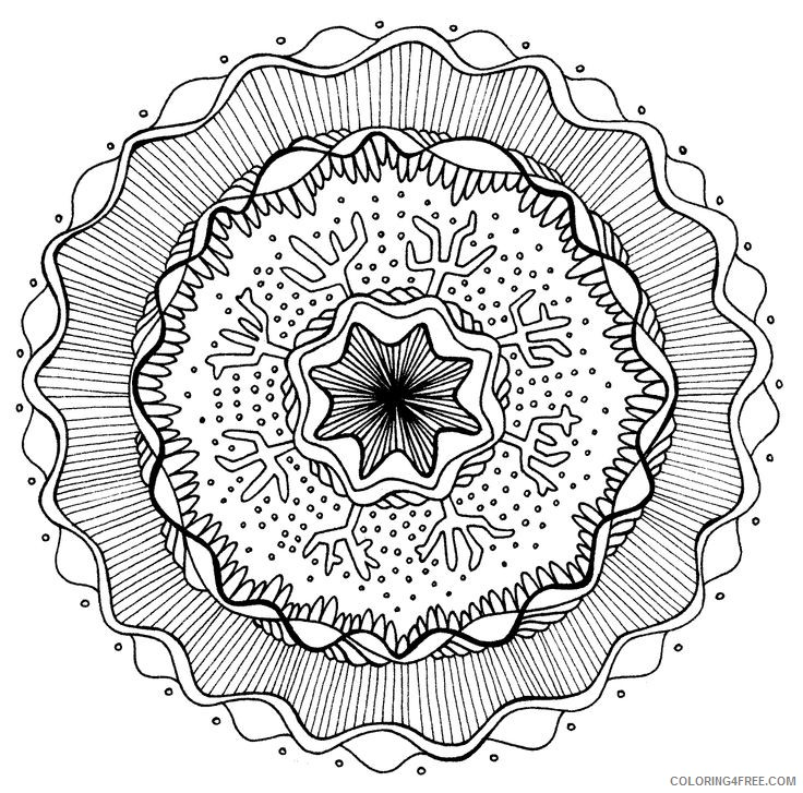 grown up coloring pages cool mandala Coloring4free