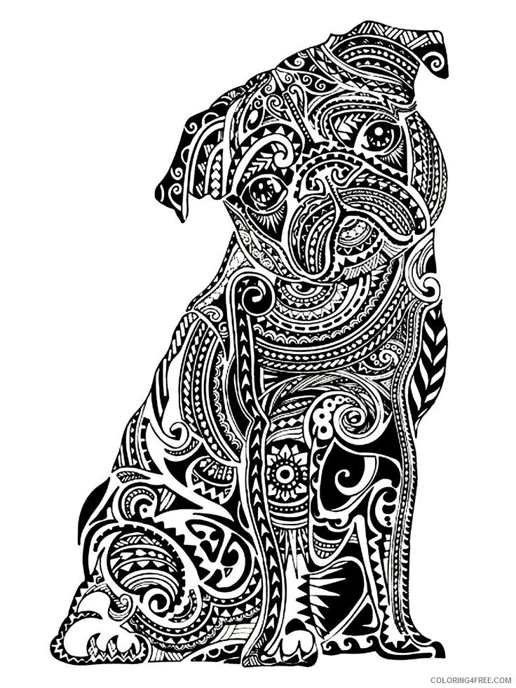 grown up coloring pages dog Coloring4free