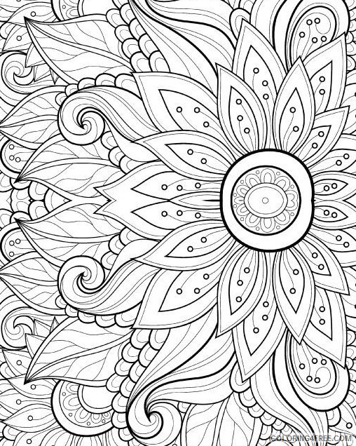 grown up coloring pages free to print Coloring4free