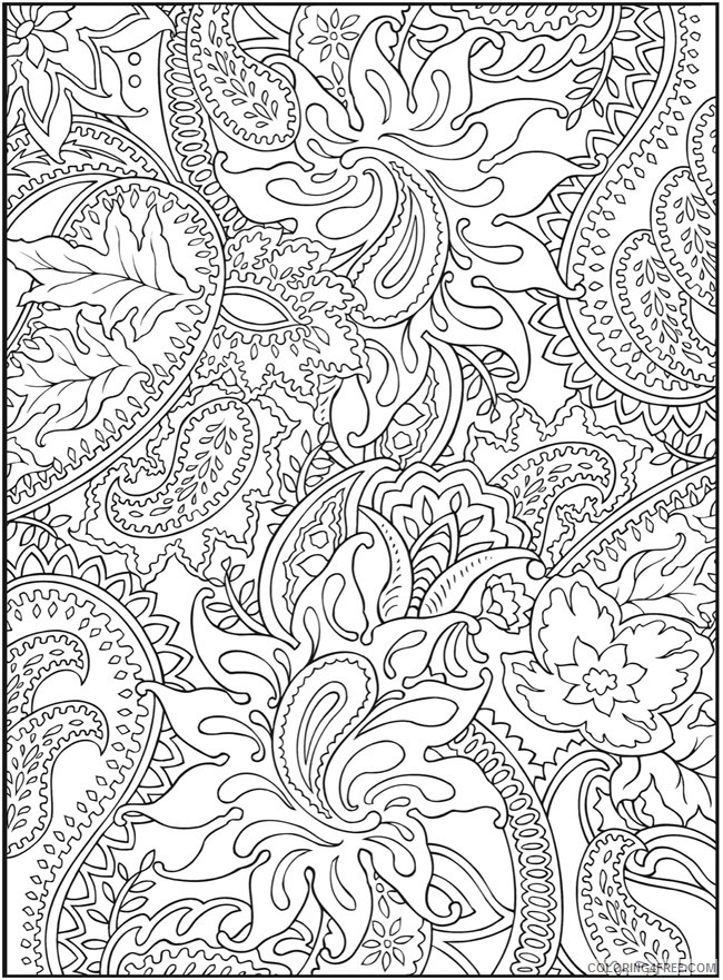 grown up coloring pages paisley Coloring4free