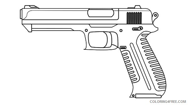 gun coloring pages free to print Coloring4free