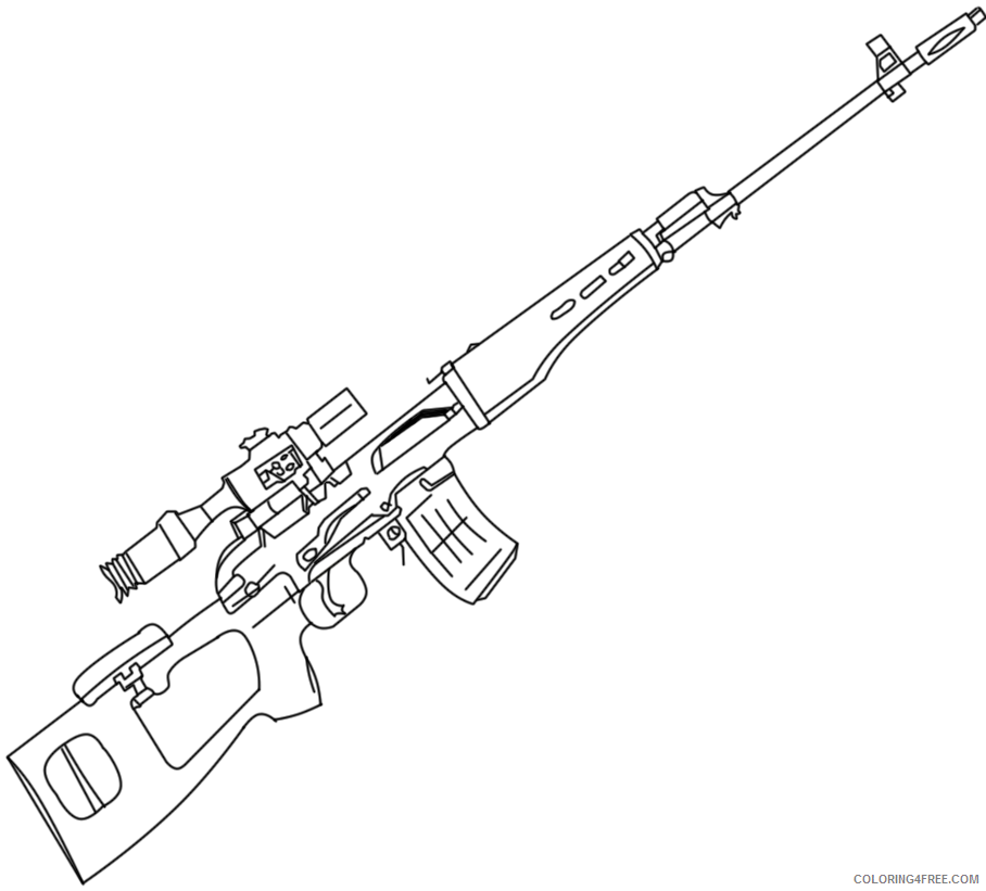 gun coloring pages sniper Coloring4free