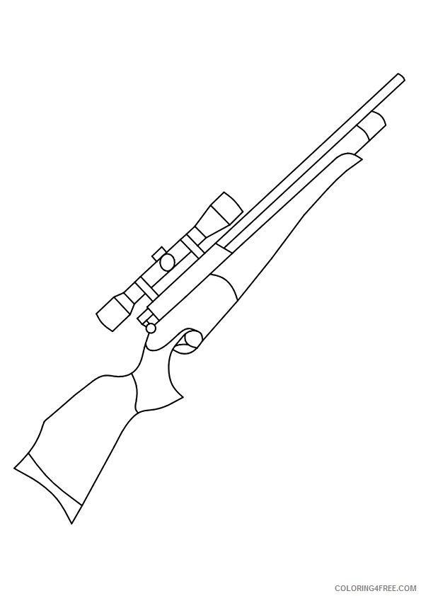 gun coloring pages to print Coloring4free